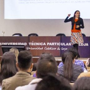 Conferencia en el VII Congreso Internacional de Economía en la UTPL, Loja
